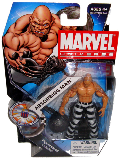 Marvel Universe 3.75 figure Absorbing Man series 3 complete /& excellent