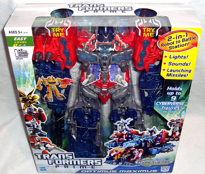Transformers Prime Cyberverse Optimus Maximus Action Figure Mib Lights Sounds 653569744085 Ebay